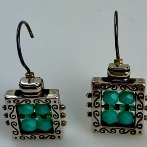 Brighton BlueCrystal Silver French Wire earring